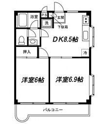 神奈川県横浜市泉区和泉中央北4丁目の賃貸マンションの間取り