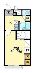 兵庫県高砂市緑丘2丁目の賃貸アパートの間取り
