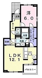 カーサ・カメリア松山インター[B101 号室号室]の間取り