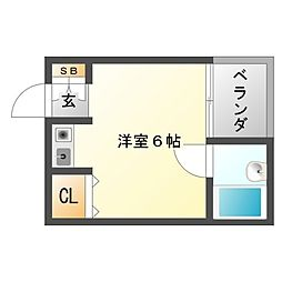 ハイツタケイ[4階]の間取り