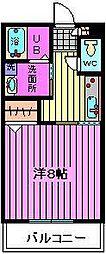 桜区栄和3階建アパート[2階]の間取り