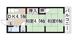 陽明荘[101号室]の間取り