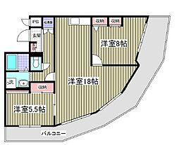 ルネ・プラッツ22別館[3階]の間取り