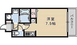 クレアートクラウン天王寺[402号室]の間取り