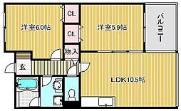 ラフラガンシア[2階]の間取り