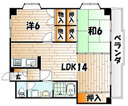 ハイツ赤坂II[302号室]の間取り