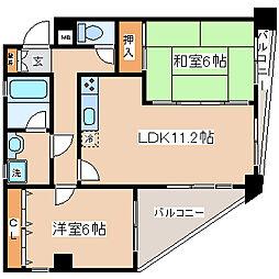 兵庫県神戸市兵庫区東山町2丁目の賃貸マンションの間取り