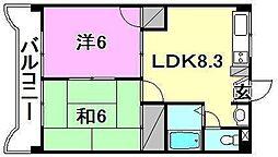 YTM中村[502 号室号室]の間取り