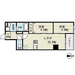 Imperial Suite南堀江[9階]の間取り