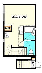 バーミープレイス西国分寺IV[2階]の間取り