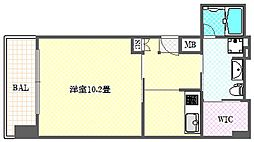 エイペックス東心斎橋2[6階]の間取り