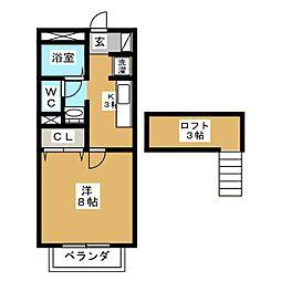 ガルテン山王 伍番館[2階]の間取り
