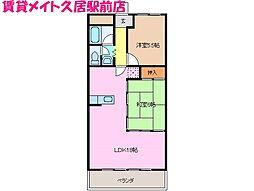 豊ハイツ[1階]の間取り