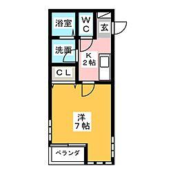 プランドール・S[2階]の間取り