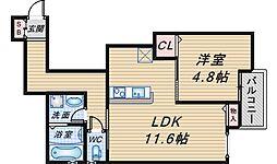 (仮称)曽根東町2丁目マンション[102号室]の間取り