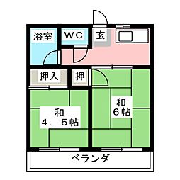 パークマンション大坪[2階]の間取り