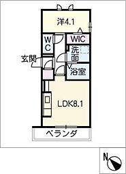 D‐roomビーチルック 2階1SLDKの間取り