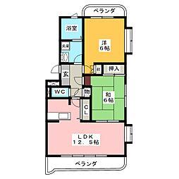 柊館[3階]の間取り