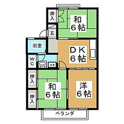 セジュール・S・COURT C[2階]の間取り
