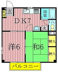 パークサイドチヅル[1階]の間取り