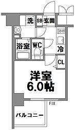 エスリード新大阪グランファースト[911号室]の間取り