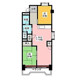 笠東ハイツ[3階]の間取り