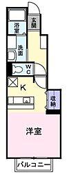 エテルネルB[1階]の間取り