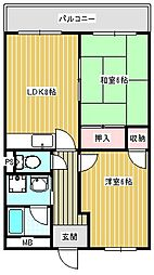たきよしマンション[402号室]の間取り