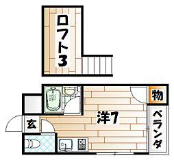 リバーサイドハウス[2階]の間取り