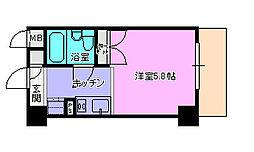ドミトリー茅ヶ崎202[2階]の間取り