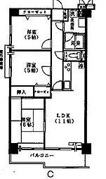 カーサエストゥペンダ[702号室]の間取り