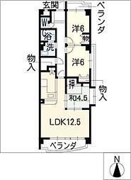 アコール小幡II[2階]の間取り