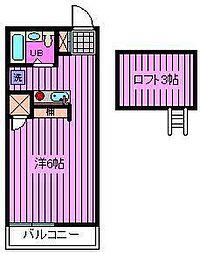 王京ガーデンパレス大宮[203号室]の間取り