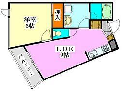 ビューネ船橋塚田[305号室]の間取り