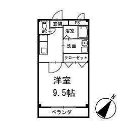 ライズ岡崎 1階[103号室]の間取り