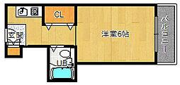アビタシオン千里[2階]の間取り