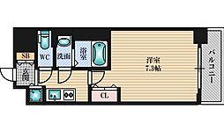 Luxe新大阪5 14階1Kの間取り