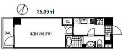 アドバンス神戸グルーブ2 9階1Kの間取り