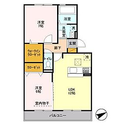 埼玉県ふじみ野市新駒林3丁目の賃貸アパートの間取り
