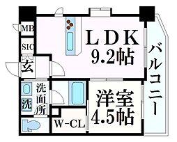 阪急神戸本線 春日野道駅 徒歩7分の賃貸マンション 10階1LDKの間取り