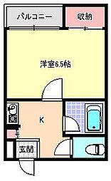 プレジオールKOMAGAWA[6階]の間取り