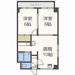 ロイス札幌[5階]の間取り