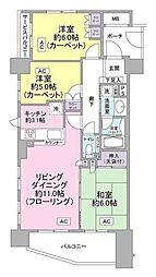 神奈川県横浜市鶴見区尻手1丁目の賃貸マンションの間取り