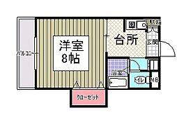 サンシャイン田代2[108号室]の間取り