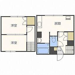 北海道札幌市西区八軒六条東3丁目の賃貸マンションの間取り