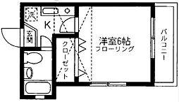 東京都北区赤羽南2丁目の賃貸アパートの間取り