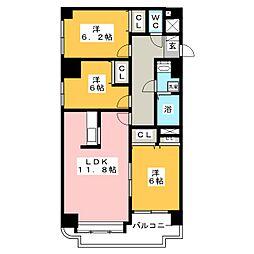 北海道札幌市東区北二十一条東15丁目の賃貸マンションの間取り