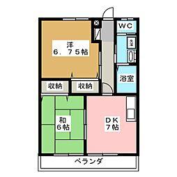 サンピュアLaurier[2階]の間取り