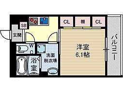 リブリ・末広[1階]の間取り