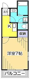 フィットキャビンオロコダット[4階]の間取り